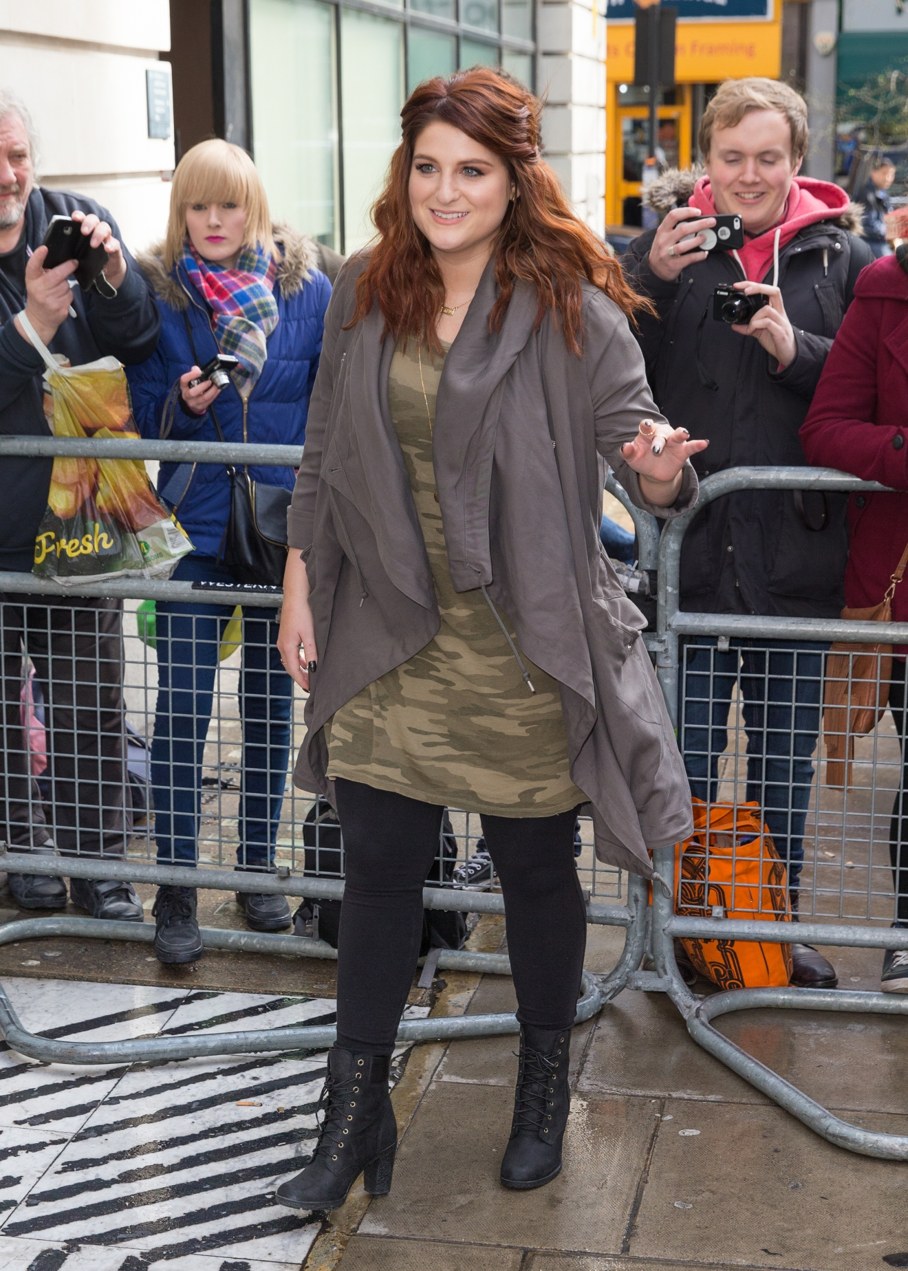 Meghan Trainor arriving at the BBC Radio 2 studios                                    Featuring: Meghan Trainor                  Where: London, United Kingdom                  When: 06 Apr 2016                  Credit: Mario Mitsis/WENN.com