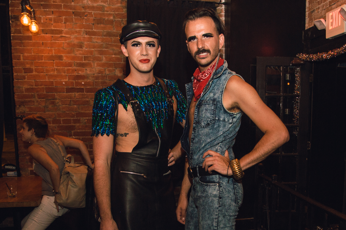 Sammie Matson and Nicholas Schock with some of the best outfits of the night. [Image: Catherine Viox]