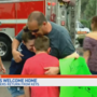 Local firefighters get a hero's welcome after returning from Keys