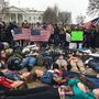 DC teens hold lie-in at White House in solidarity with Florida victims