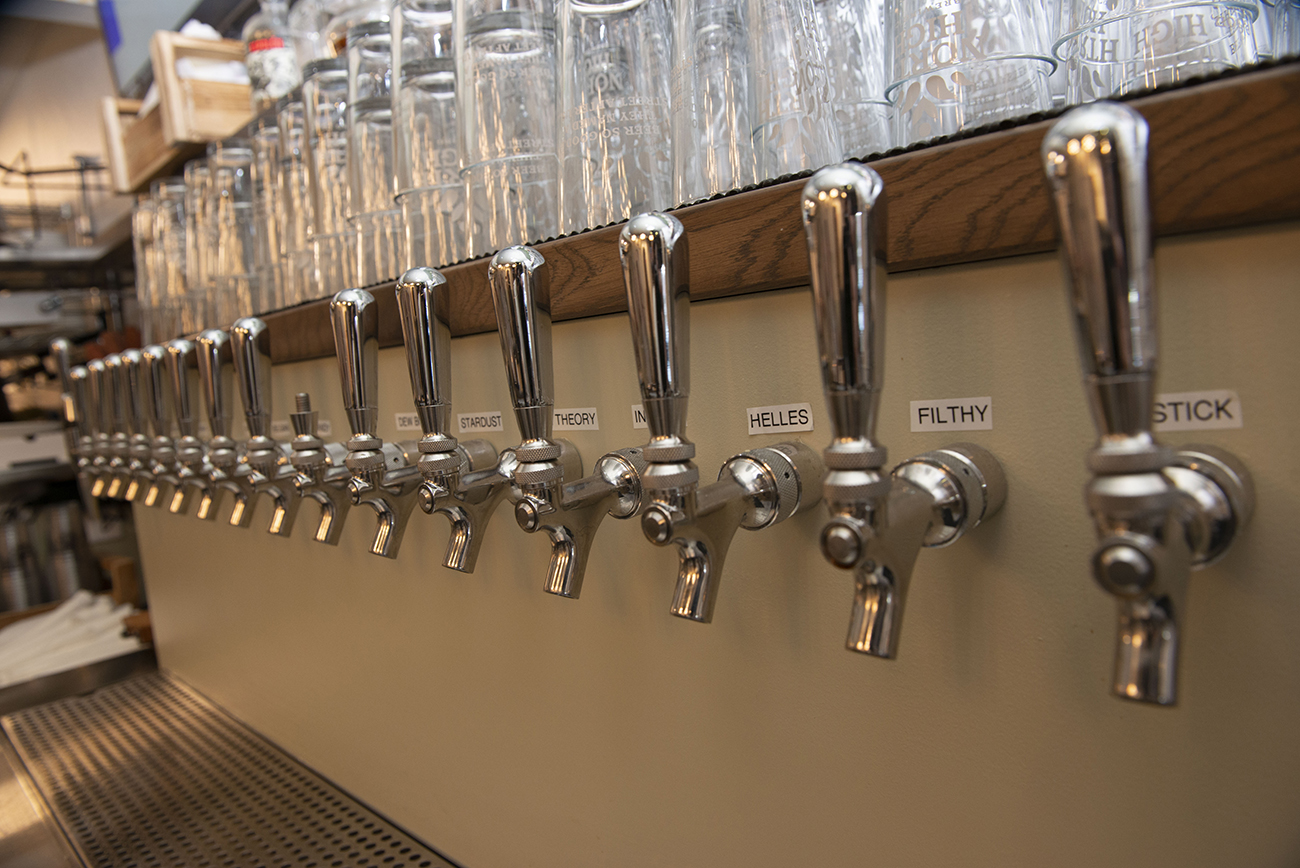 There are 14 different craft beers on tap.{ }/ Image: Joe Simon // Published: 3.2.21