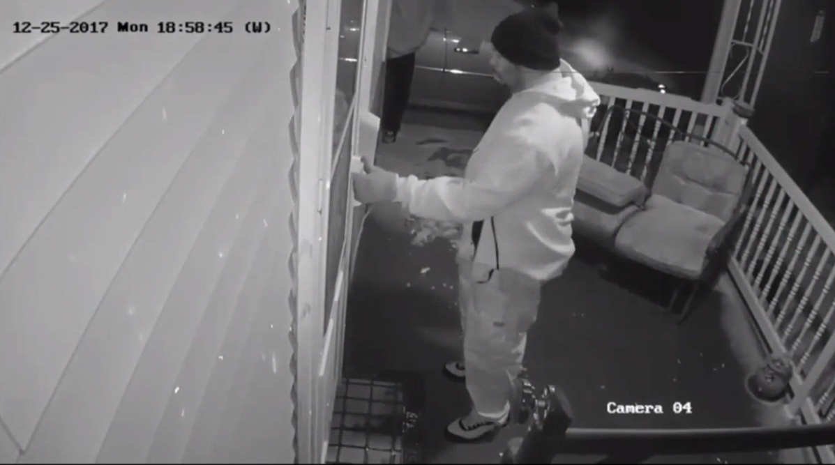 Officials are searching for two men who were caught on camera trying to break into a home in southern Springfield. (WICS)