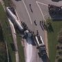 Police: Tractor trailer carrying milk overturns at Rt. 216 in Howard County