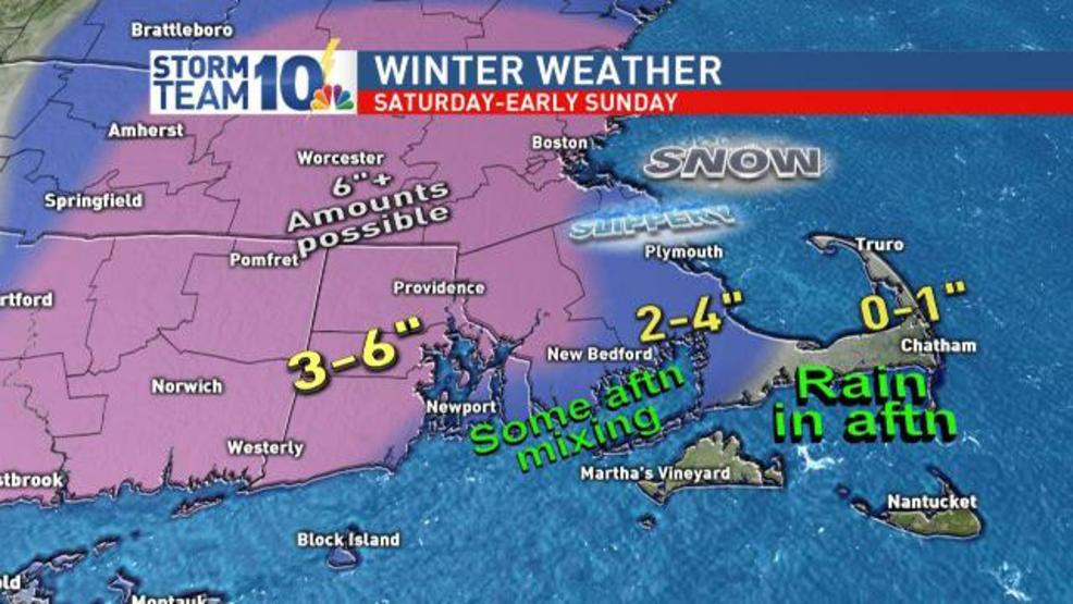 Winter storm warning in effect for parts of Southern New England