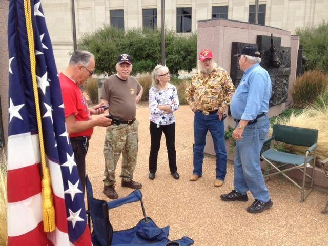 Oklahoma veterans also took to the State Capitol today in support of the rally in Washington D.C.