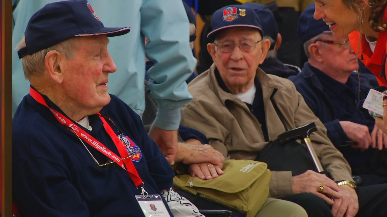Nearly 100 veterans are on the trip of a lifetime, visiting memorials that honor them as part of the Blue Ridge Honor Flight. (Photo credit: WLOS staff)