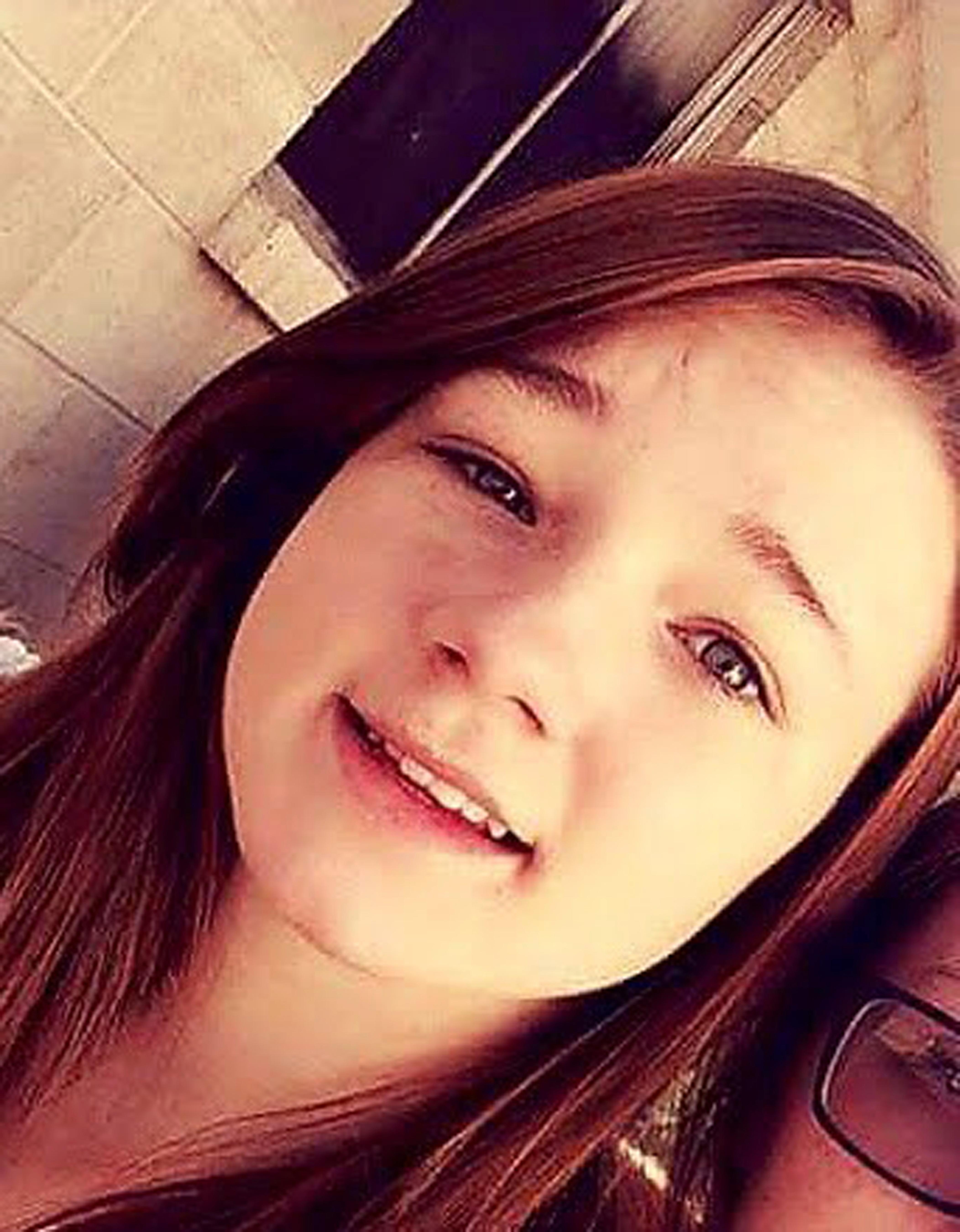 "This undated photo provided by Amanda Hunt shows a selfie of her niece Brelynne ""Breezy"" Otteson. Prosecutors said 17-year-old Otteson and 18-year-old Riley Powell were bound and stabbed after visiting a friend whose boyfriend become enraged she'd invited a male visitor into their home. Charging documents say 41-year-old Jerrod Baum killed both and tossed the bodies down an abandoned Utah mine shaft. (Amanda Hunt via AP)"