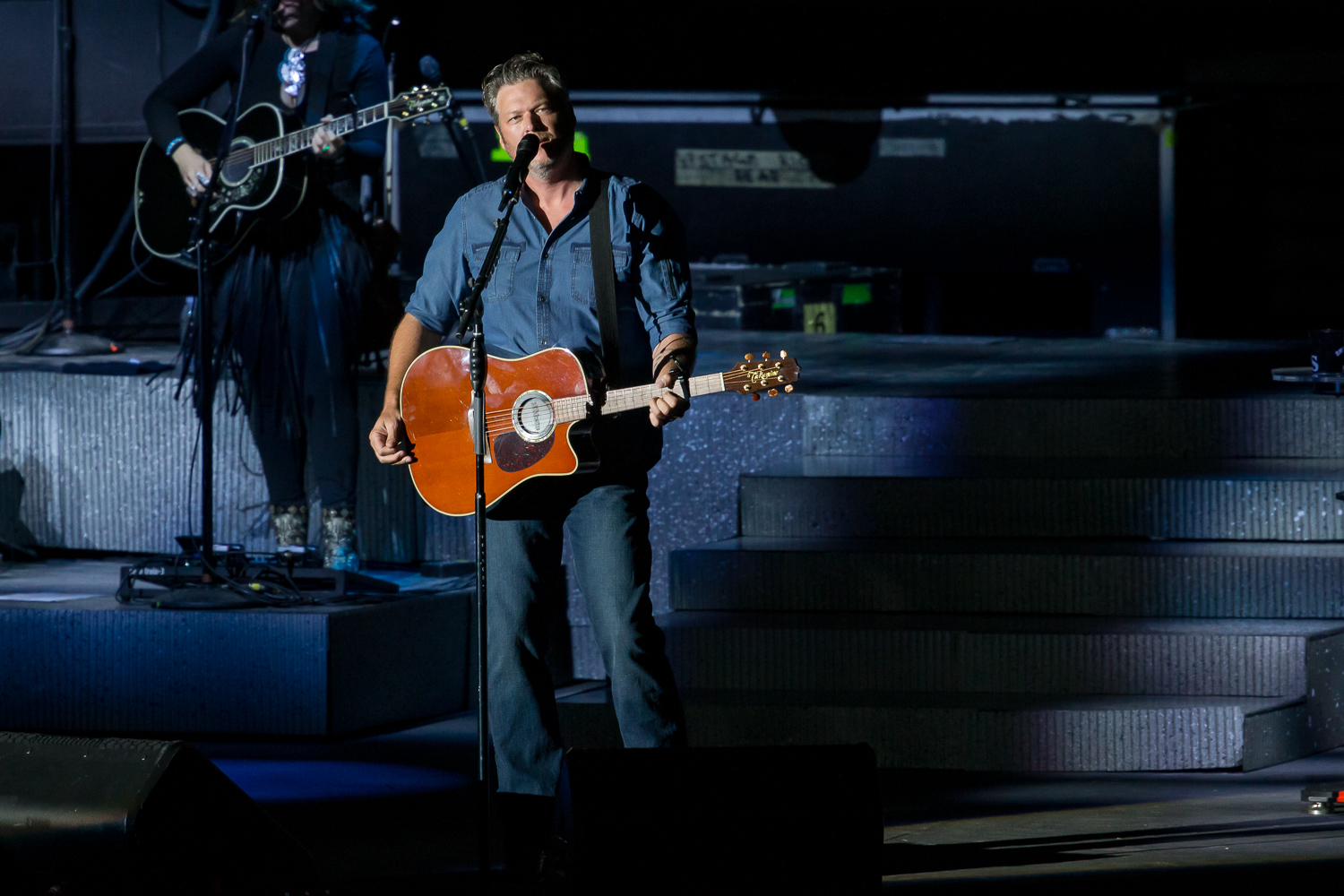 Blake Shelton at the Watershed Music Festival 2018 at The Gorge Amphitheatre. (Photo by David Conger / davidconger.com)