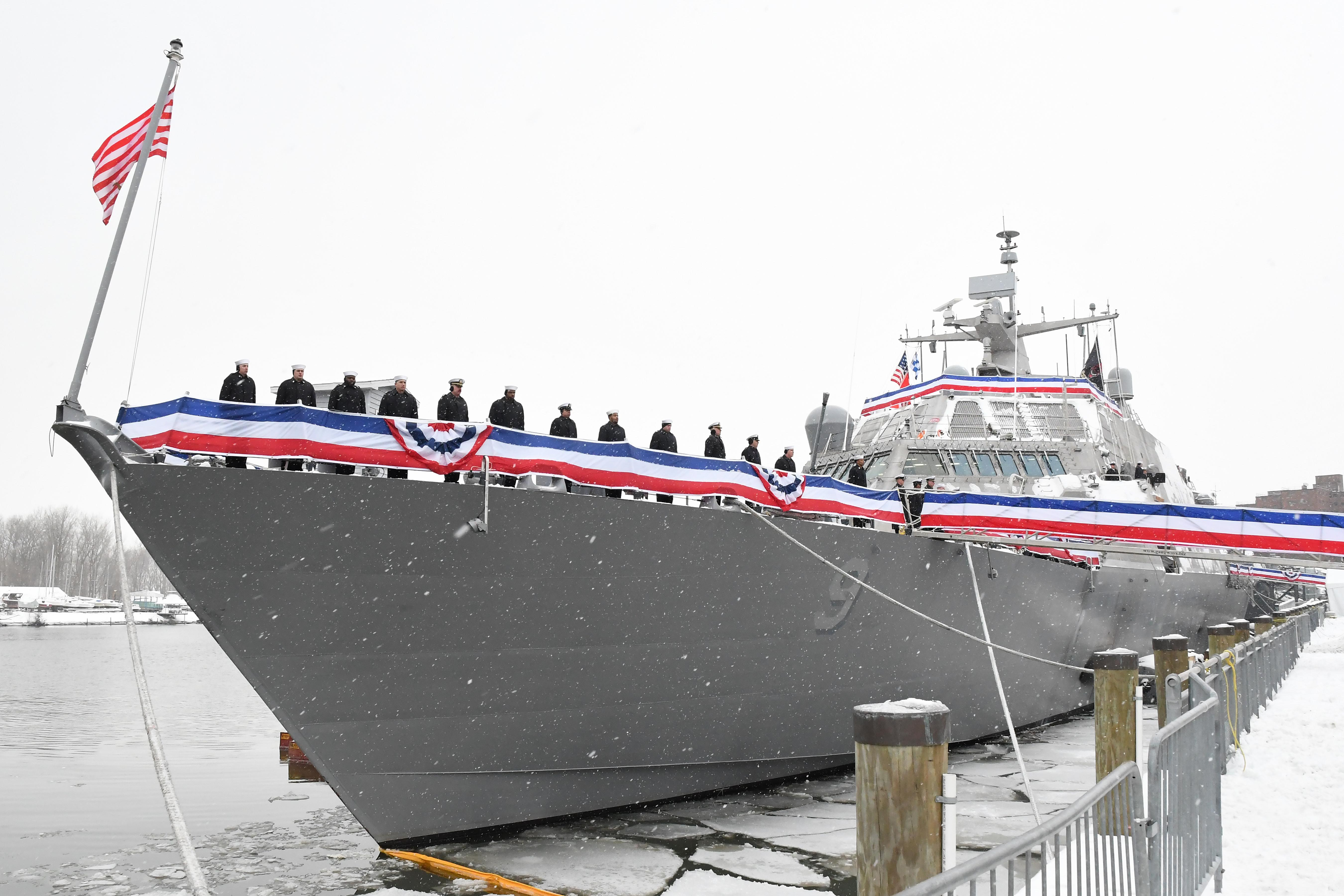 In Buffalo, thousands of people were invited to the Saturday, Dec. 16, 2017 commissioning of the USS Little Rock. (Photo courtesy Lockheed Martin)