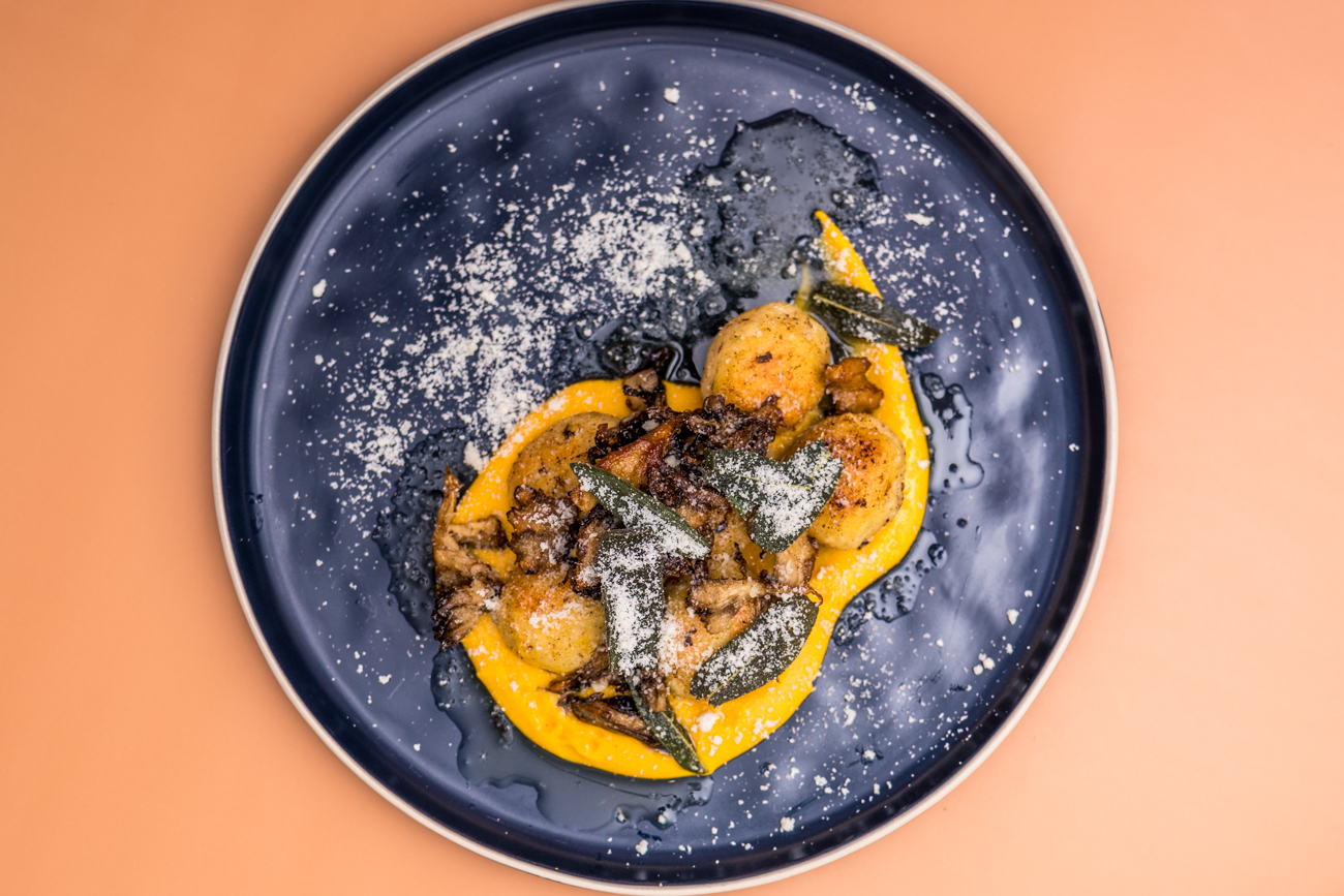 Ricotta Gnocchi: housemate ricotta, butternut squash, brown butter, shiitake mushrooms, sage, and parmigiano / Image: Catherine Viox{ }// Published: 2.13.21