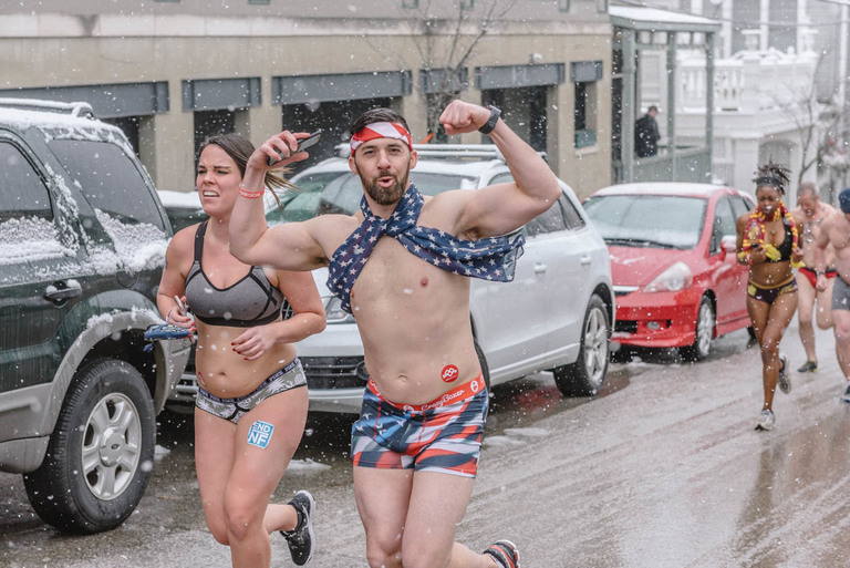 The Cupid's Undie Run took place on Saturday, February 17 in Mt. Adams. The one-mile run in your underwear is a fundraiser for Neurofibromatosis (NF), a rare genetic disorder which causes tumors to grow in the nervous system. The Undie Run takes place in locations all over the country. / Image: Mike Menke // Published: 2.18.18