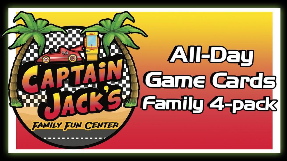 KBFX Captain Jack's Family Fun Center All-Day Game Cards   KBAK