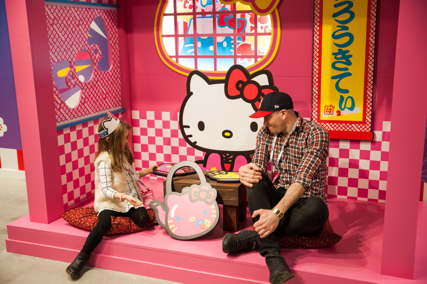 "The Hello Kitty Friends Around the World Tour has officially arrived in the Pacific Northwest for it's second time! Setting up shop in Bellevue until December 29, the immersive, sensory experience lets you walk through the world of Hello Kitty and her friends. 10,000 supercute square feet, the pop up has five rooms: London (Hello Kitty's house), Paris (Hello Kitty Cafe), New York, Honolulu, Tokyo and Baggage Claim (gift shop). While the pop up is open through 12/29, different days have different hours, so{&nbsp;}<a  href=""https://www.showclix.com/event/hello-kitty-seattle"" target=""_blank"" title=""https://www.showclix.com/event/hello-kitty-seattle"">make sure you check those out before you go. Tickets start at $22.</a>{&nbsp;}(Image: Elizabeth Crook / Seattle Refined)"