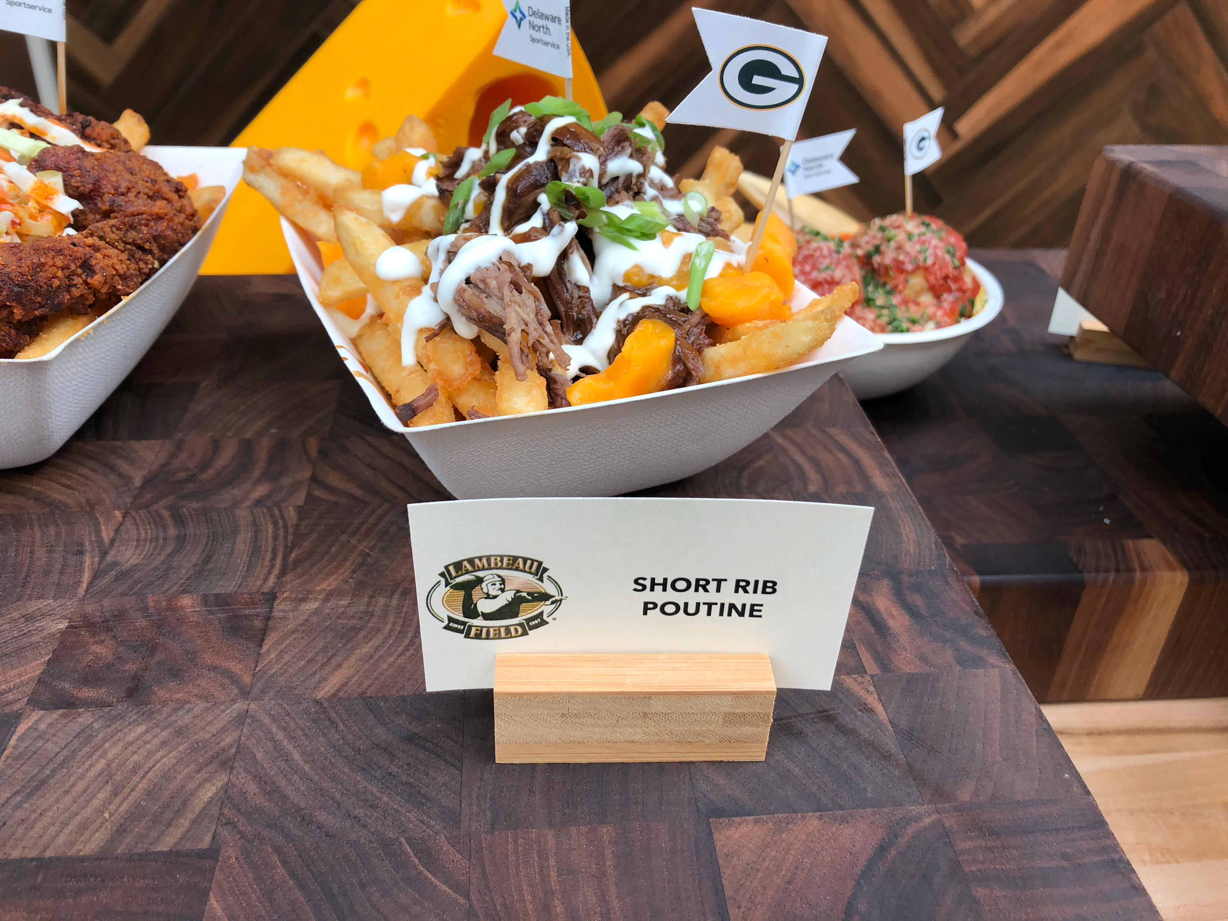 Short Rib Poutine is part of the Packers game day menu, September 10, 2019 (WLUK/Eric Peterson)