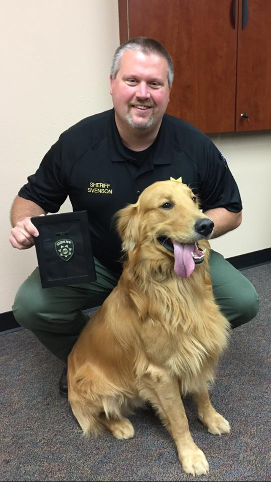 A golden retriever in Yamhill County found $85,000 worth of black tar heroin when he was digging in his backyard. Photo courtesy Yamhill County Sheriff's Office