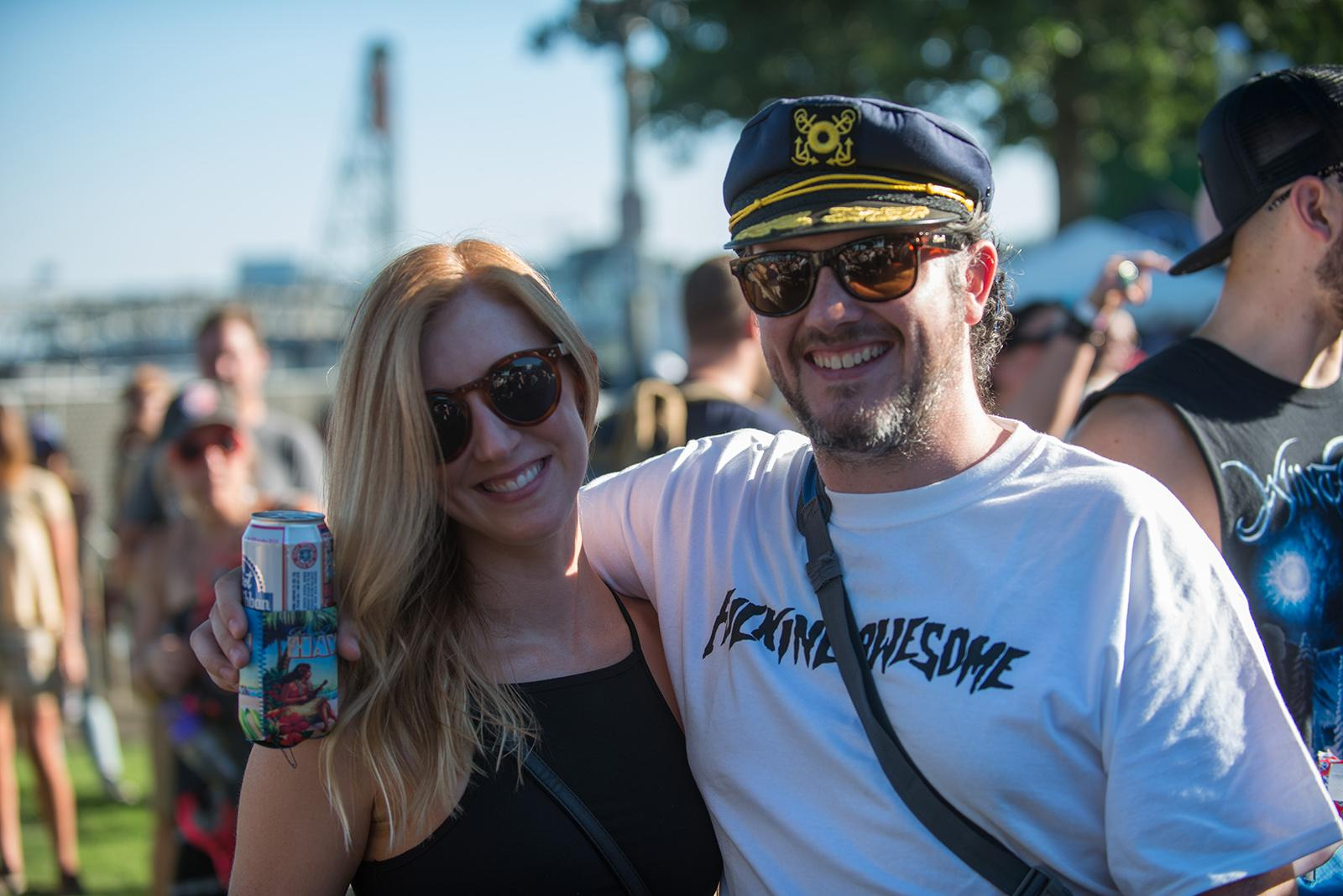 Music fans filled Tom McCall Waterfront Park on Saturday for day 1 of Music Fest NW presents Project Pabst, a combination of two Portland summer music festivals featuring Iggy Pop, Father John Misty, Lizzo, FIDLAR, Die Antwoord, The Last Artful Dodgr, Pup, Filthy Friends, and White Reaper. (Photo by Tristan Fortsch, KATU News on 8/26/2017)