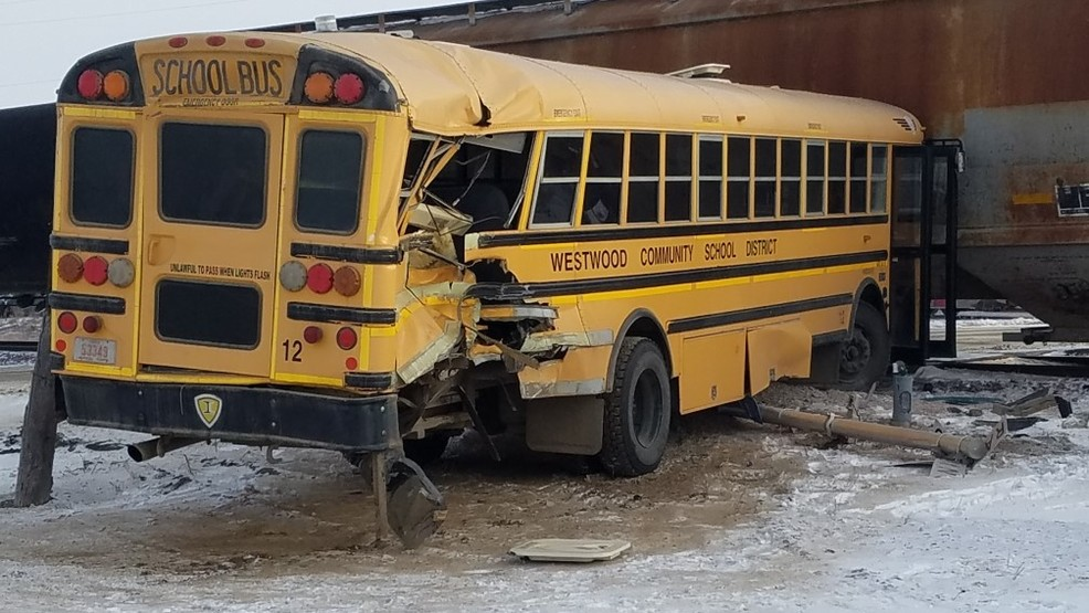 Train crashes into school bus near Salix   KMEG