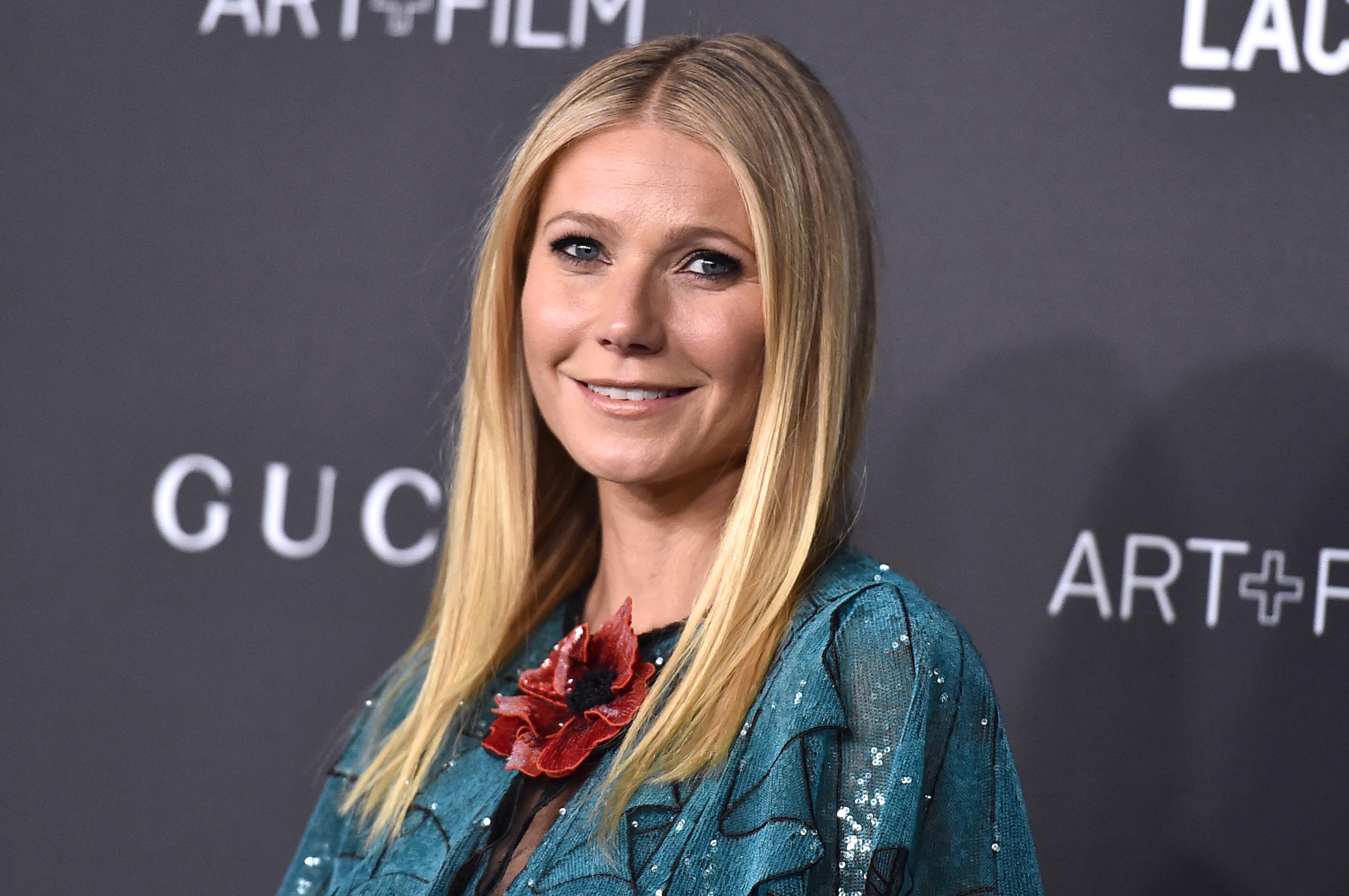 FILE - In this Nov. 7, 2015 file photo, Gwyneth Paltrow attends LACMA 2015 Art+Film Gala at LACMA in Los Angeles, Calif.  Authorities are searching for three men who robbed PaltrowÂ?s Goop pop-up shop in New York City of more than $173,000 worth of jewelry and watches. It happened Saturday afternoon, Dec. 5, 2015, at the lifestyle siteÂ?s temporary store inside The Shops at Columbus Circle in midtown ManhattanÂ?s Time Warner Center.  (Photo by Jordan Strauss/Invision/AP, File)