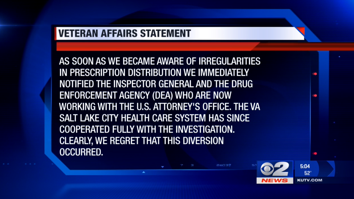 Theft of 24,000 painkillers from Salt Lake VA hospital under investigation