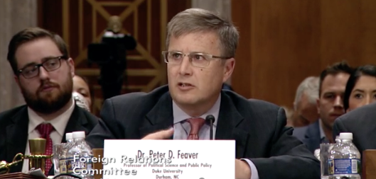 Dr. Peter D. Feaver, professor of political science and public policy at Duke University. Photo: Senate Foreign Relations Committee