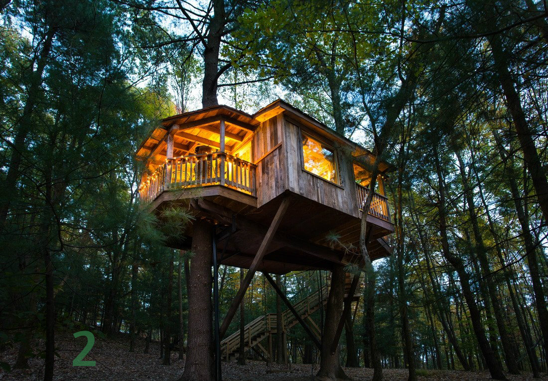 #2 - There's a village of awesome treehouses only three hours from Cincy, and two of the ones we featured were designed by Pete Nelson, who's been on the Discovery Channel. Read all about it in the Travel section. / Image courtesy of The Mohicans