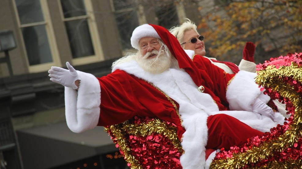 Santa always rides the last float in the Asheville Holiday Parade. (Photo: WLOS staff)<p></p>