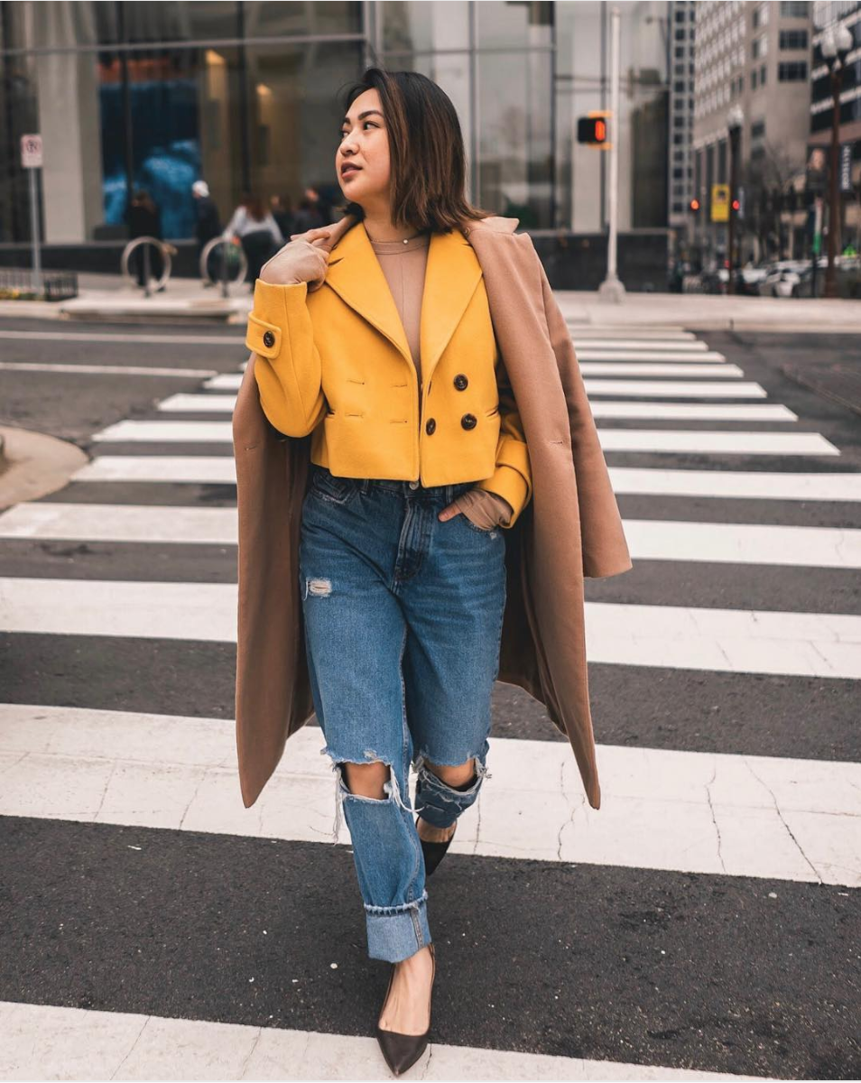 Another big color trend is yellow! There's a shade for everyone, whether it's marigold or a sunny hue.  (Image courtesy of @district.vy, photo by @rddjavi)