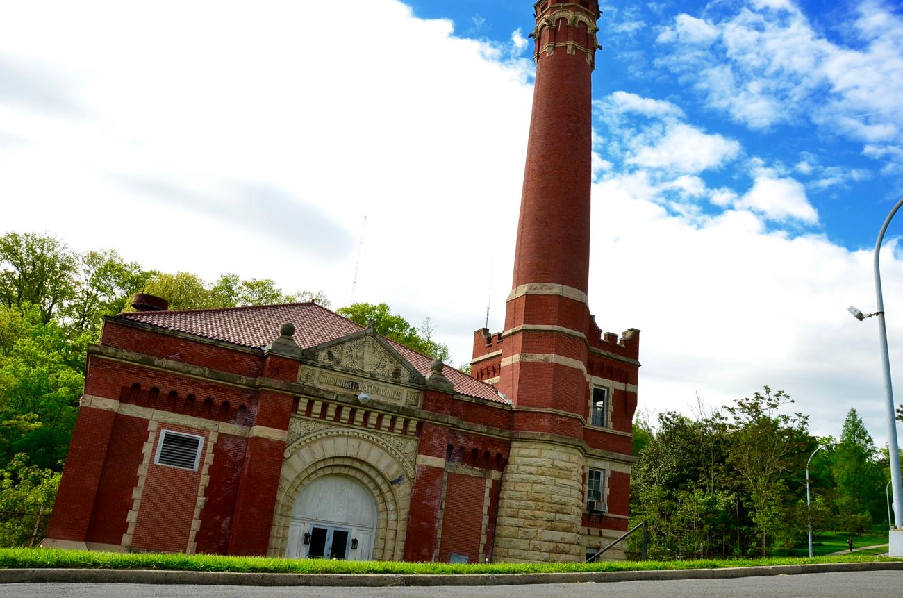 Eden Park Station No. 7 is a historic structure originally built as a water pumping station. The building was designed by well-known Cincinnati architect Samuel Hannaford. / Image: Leah Zipperstein, Cincinnati Refined / Info sourced from cincinnatiparks.com // Published: 5.13.17
