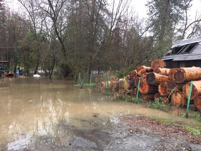 Flooding in North Fork by Justin Willis 1-9-17