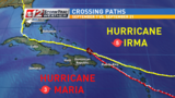 Hurricane Maria crossing paths with Irma