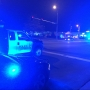 Pedestrian struck by police car
