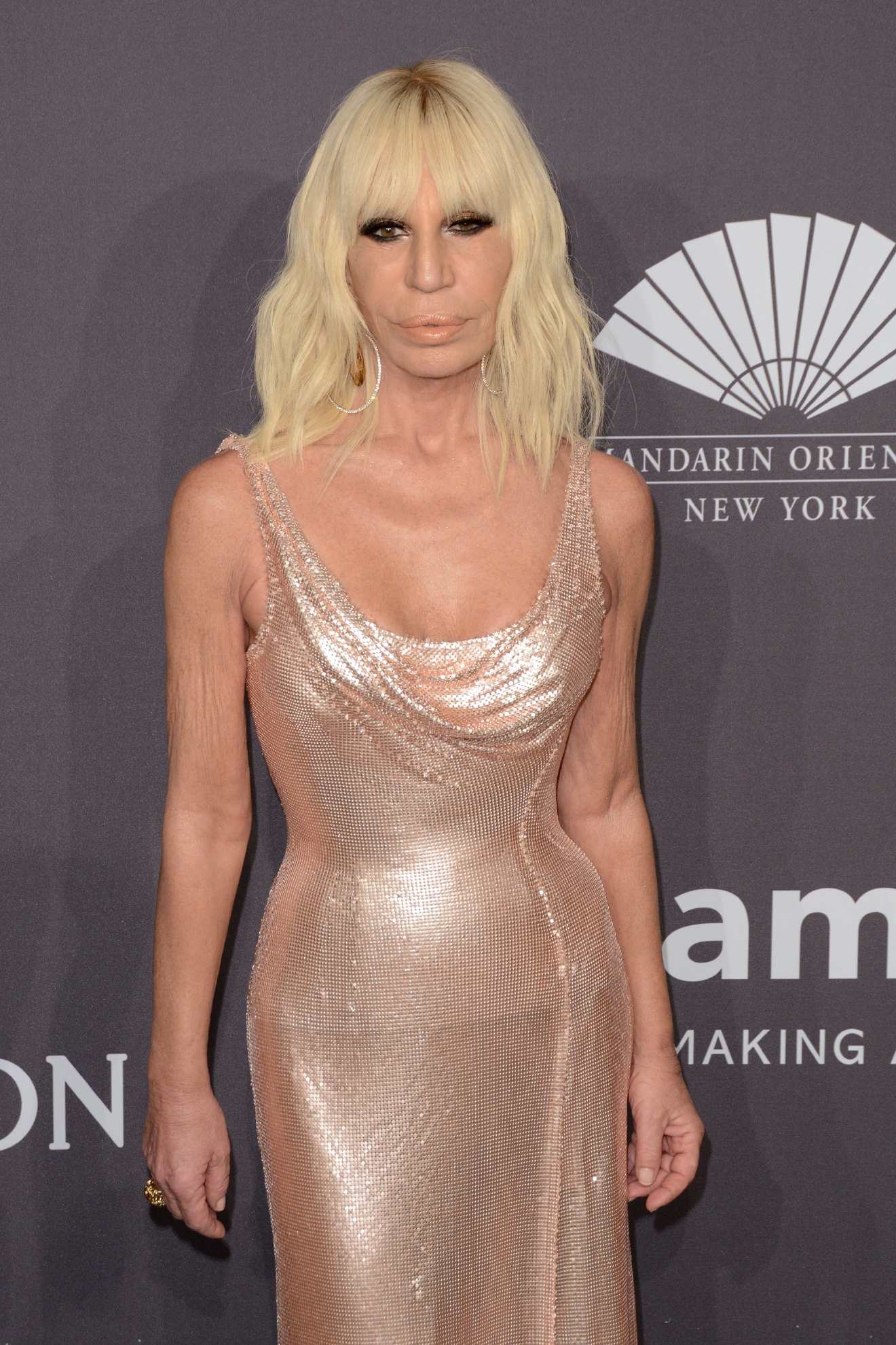 amfAR New York 2017 Gala at Cipriani Wall Street - Red Carpet Arrivals                                    Featuring: Donatella Versace                  Where: New York, New York, United States                  When: 09 Feb 2017                  Credit: Ivan Nikolov/WENN.com