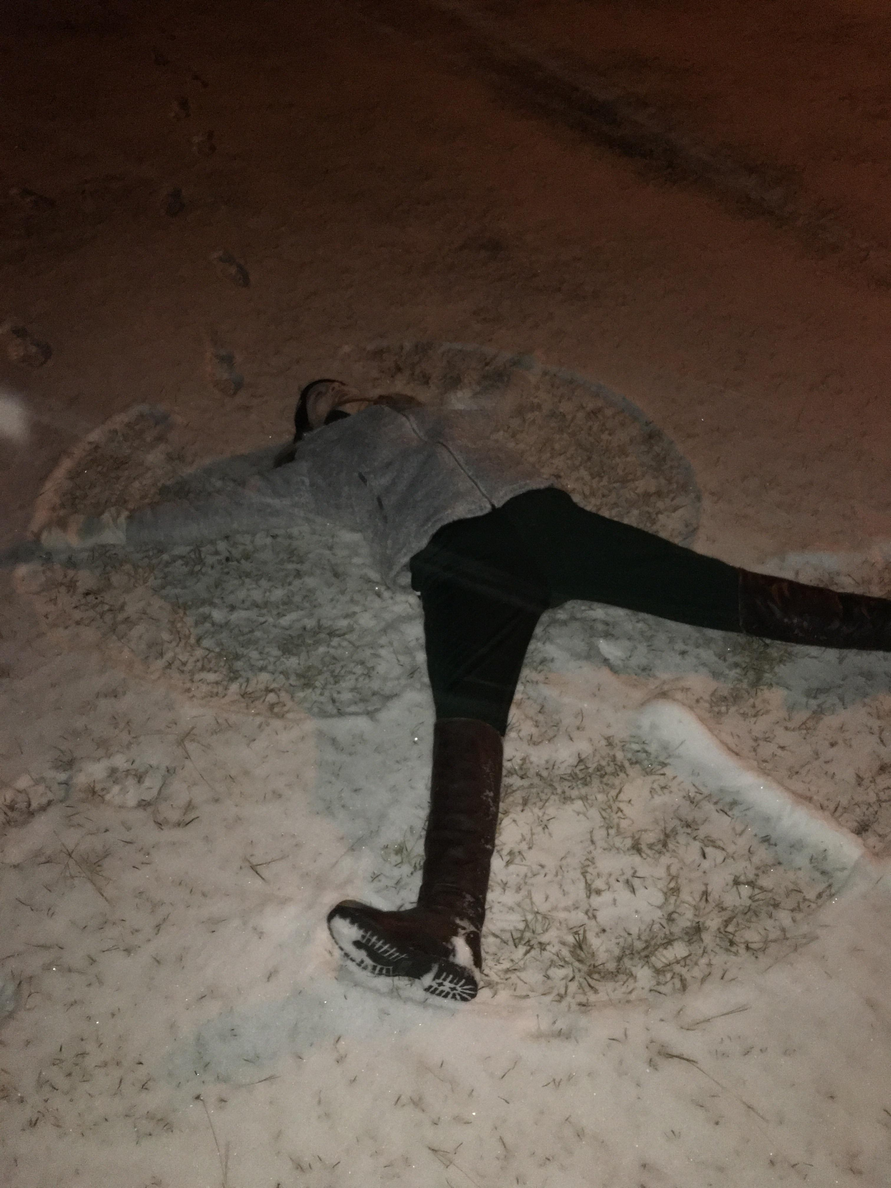 Madison McKnight makes a snow angel in Conway (Submitted by Madison McKnight)