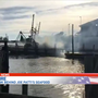 Shrimp boat catches fire behind Joe Patti's Seafood