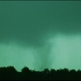 RAW VIDEO: Funnel cloud drops down in Oklahoma