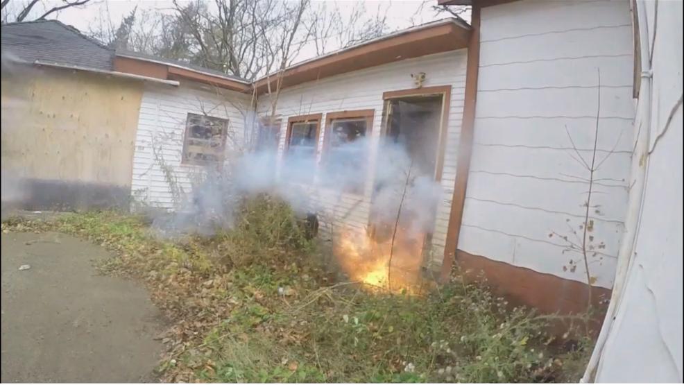 Battle Creek Police Explode Doors For Breach Training