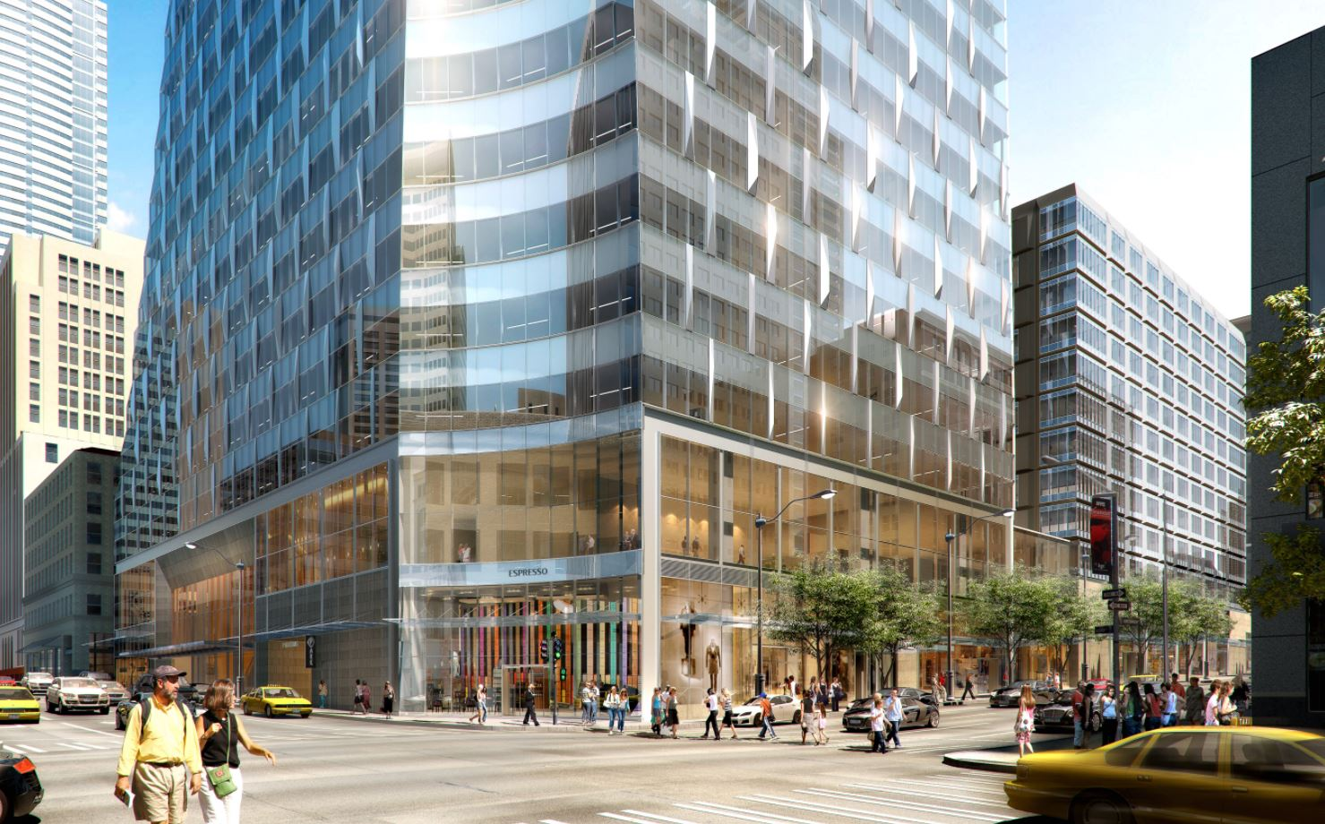 {&amp;nbsp;}Views of Rainier Square from Fourth Avenue and Union Street.. (Renderings courtesy of Wright Runstad &amp;amp; Company)<p></p>