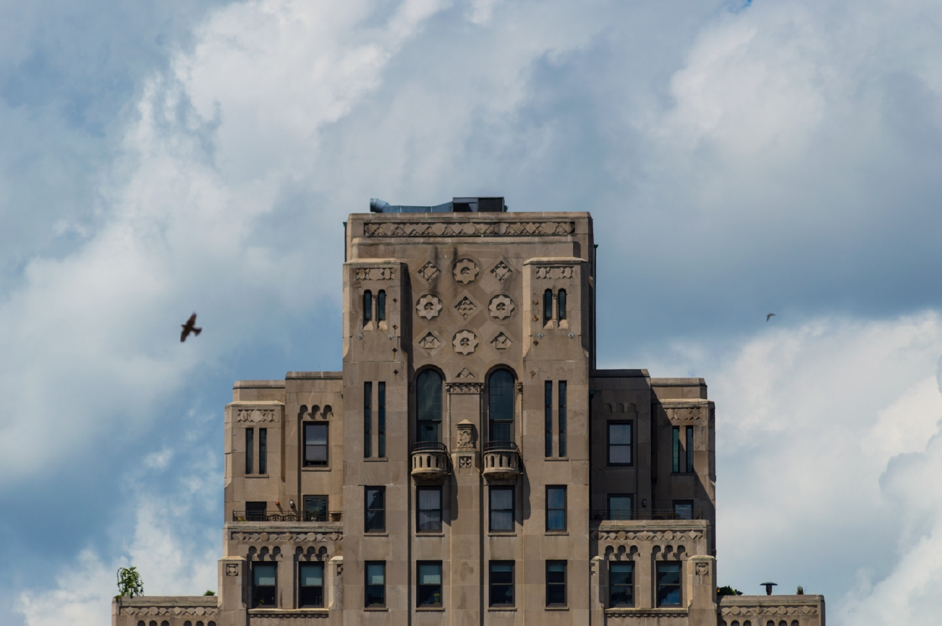 The city meets the sky at the American Building on Central Parkway / Image: Phil Armstrong, Cincinnati Refined