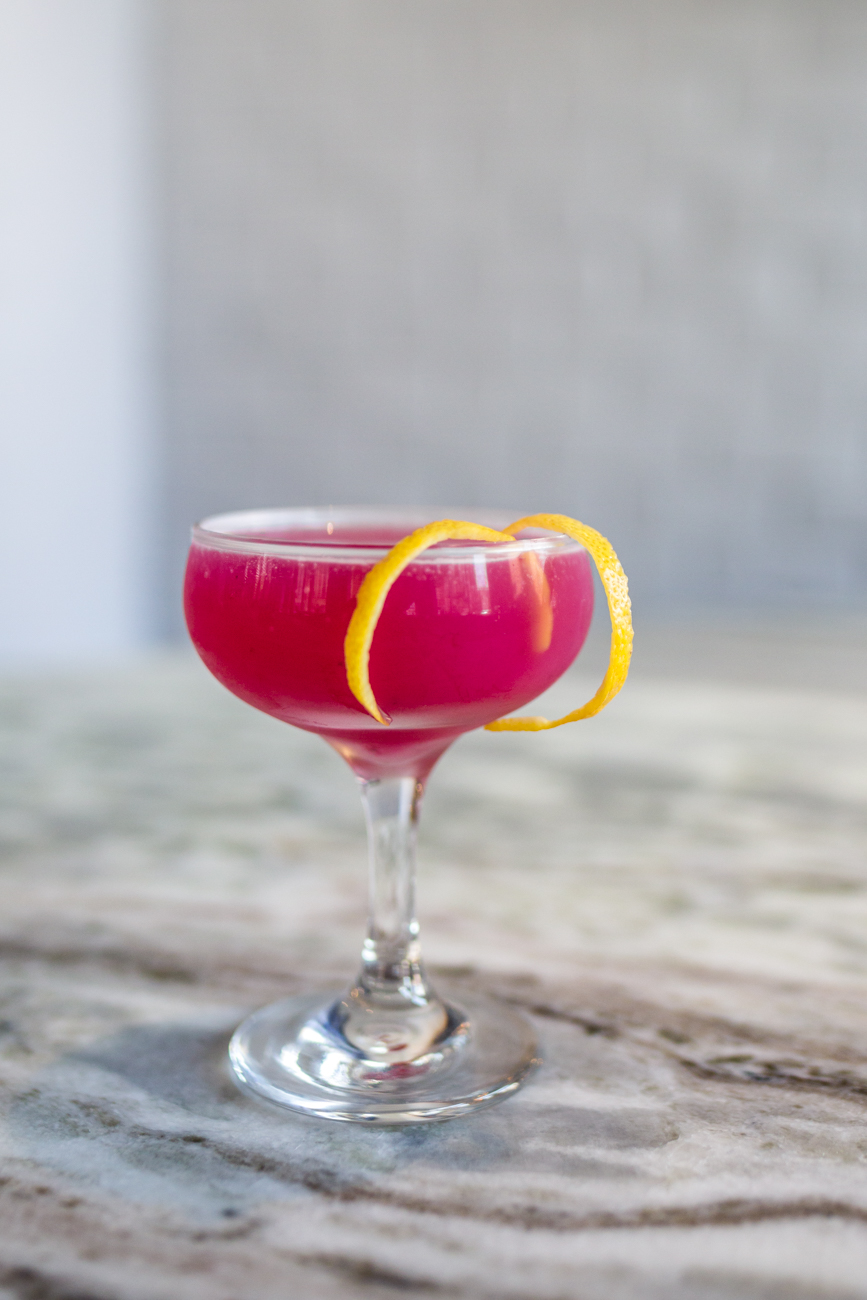 La Lavanda: gin, lemon, lavender, blueberry,  and ginger / Image: Catherine Viox // Published: 7.12.19
