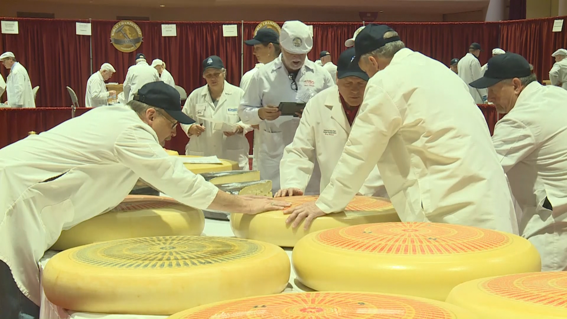 The World Championship Cheese Contest in Madison, March 6, 2018. (WMTV)
