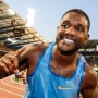 By day, he's Justin Gatlin. By race, he's alter ego 'J Gat'