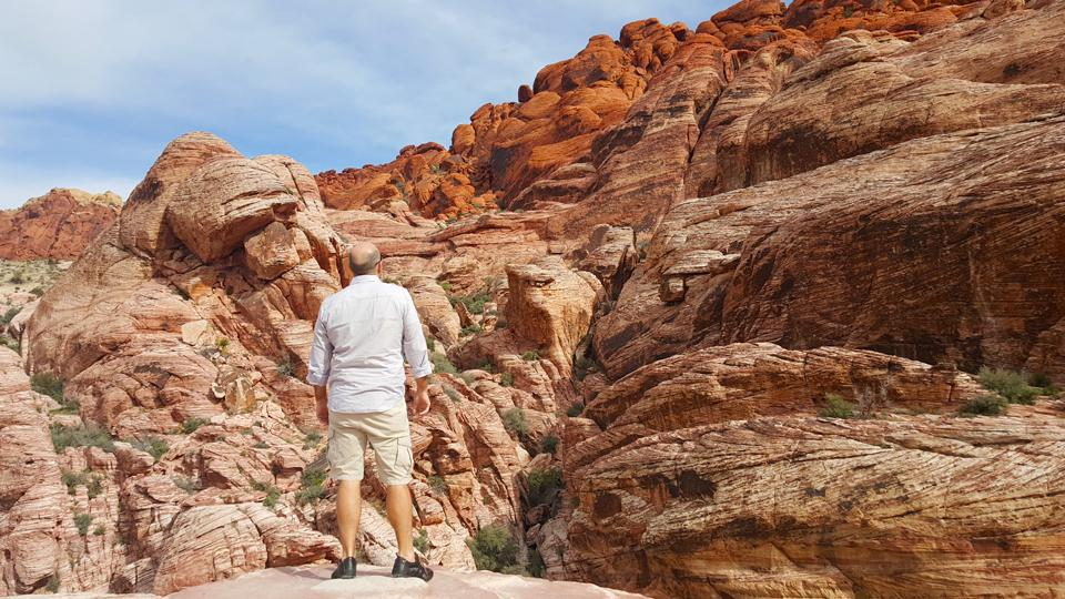 For an amazing outdoor hike, Red Rock Canyon is located 17 miles west of the Las Vegas Strip and offers miles of hiking trails. (Photo courtesy of Troy Petenbrink)