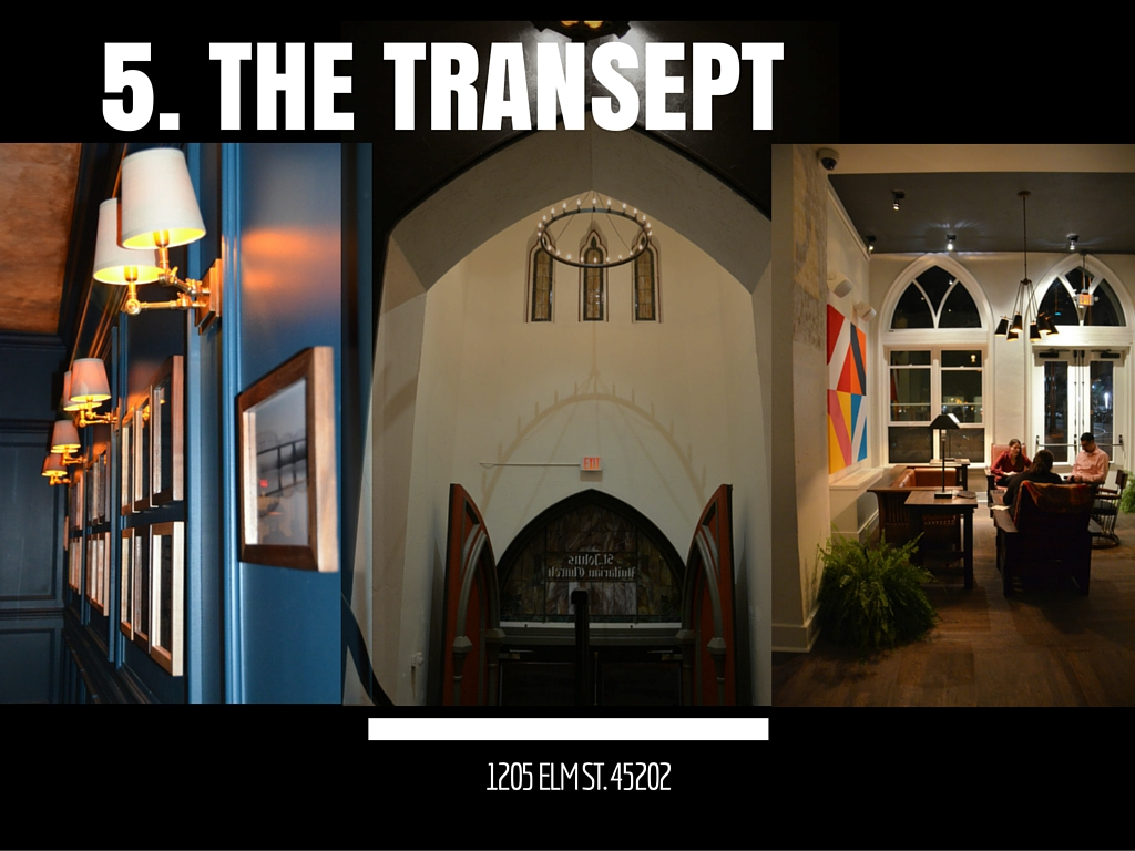 The Transept /  Where: 1205 Elm St. (45202) /  Why: A former church transforms into a bar & multi-use space in Over-the-Rhine? Perfectamundo.  --  Image: Leah Zipperstein / Cincinnati Refined
