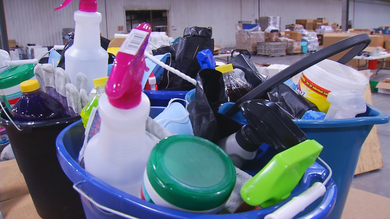 Cleaning supplies are needed the most as flood waters recede and families start the cleanup. (Photo credit: WLOS Staff)