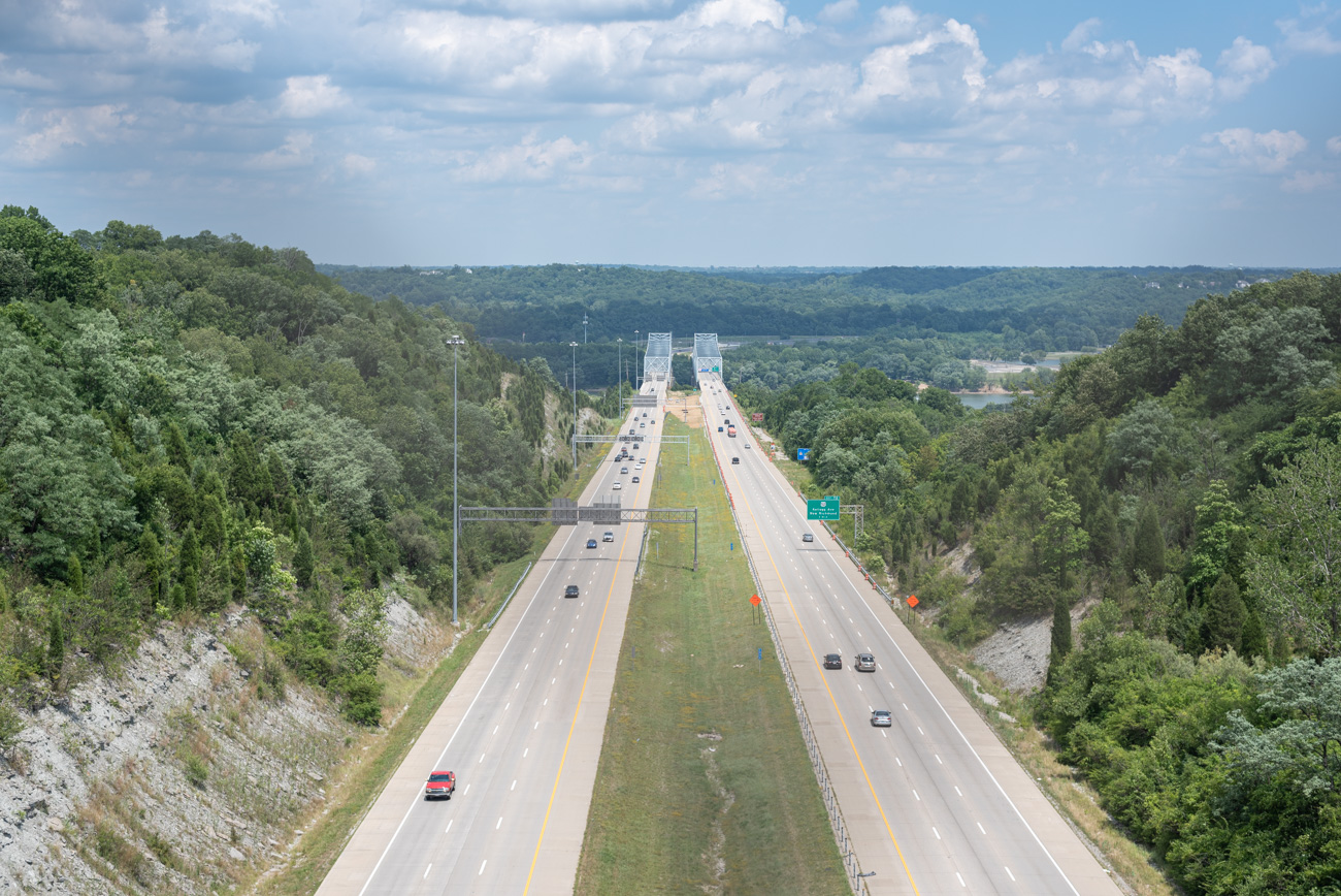 The view from the US 27 bridge spanning 275 / Image: Mike Menke{ }// Published: 8.25.20