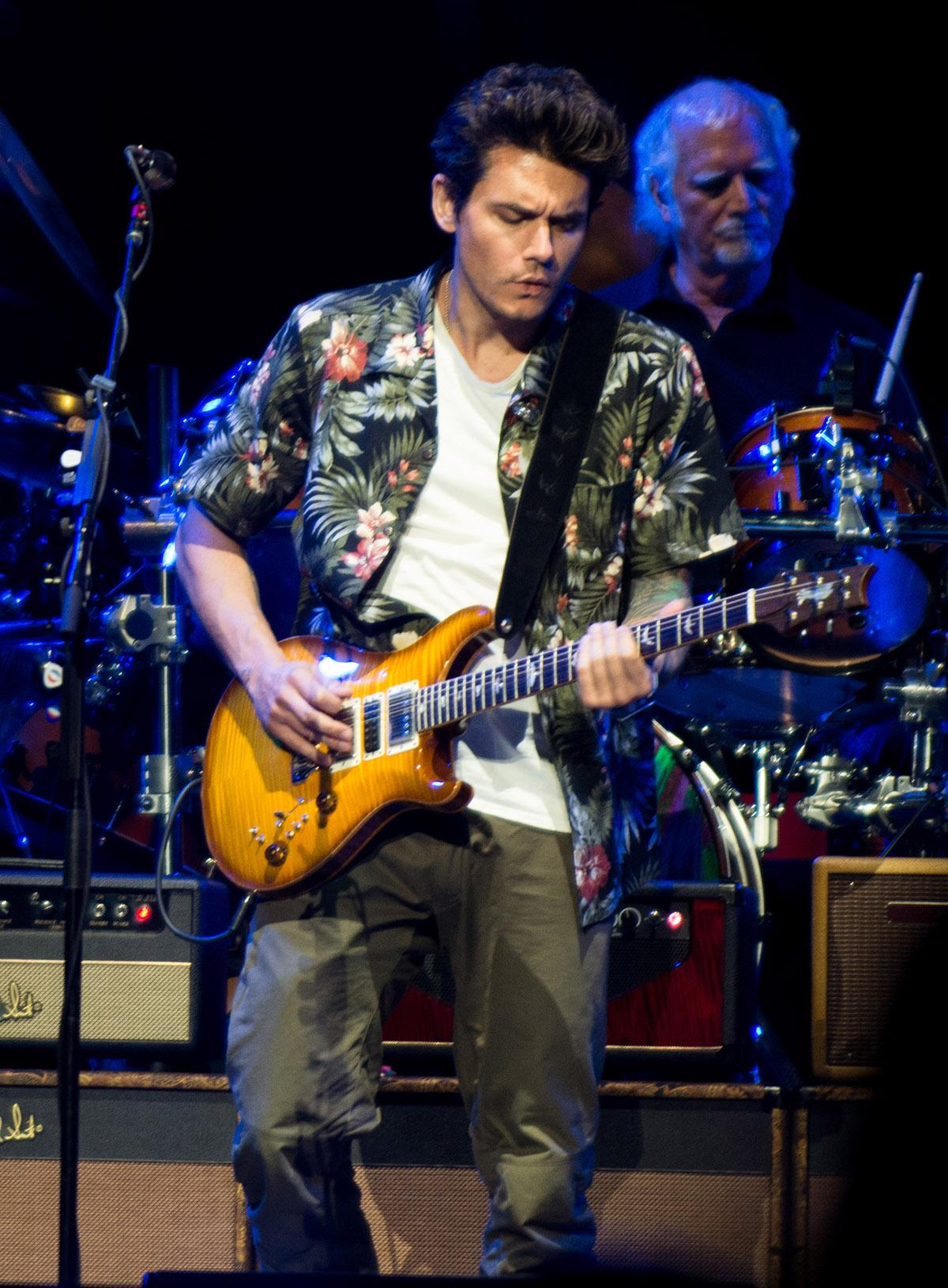 Grateful Dead members Bob Weir, Bill Kreutzmann, and Mickey Hart join John Mayer, Oteil Burbridge, and Jeff Chimenti as Dead & Company - playing classic material from the iconic rock band at Portland's Moda Center on July 22, 2016. (Photo by Tristan Fortsch)