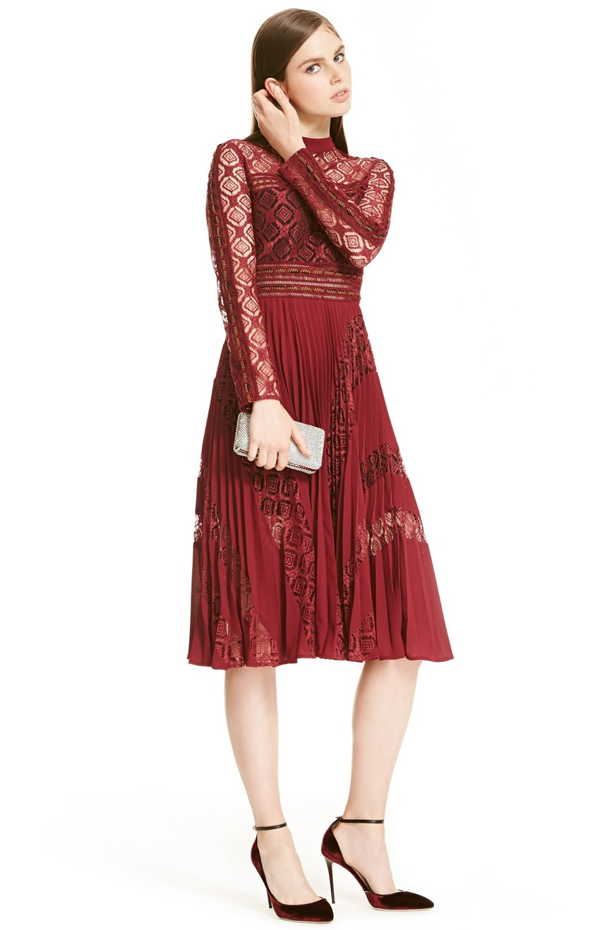 This 'Symm Lace & Chiffon Midi Dress' is spendy, but look at it.  Wear it out on NYE, again on Valentines Day, to the grocery store...why not? $475.00 (Image: Nordstrom)