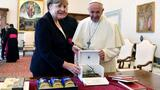 Merkel: Pope urged her to fight for Paris climate deal
