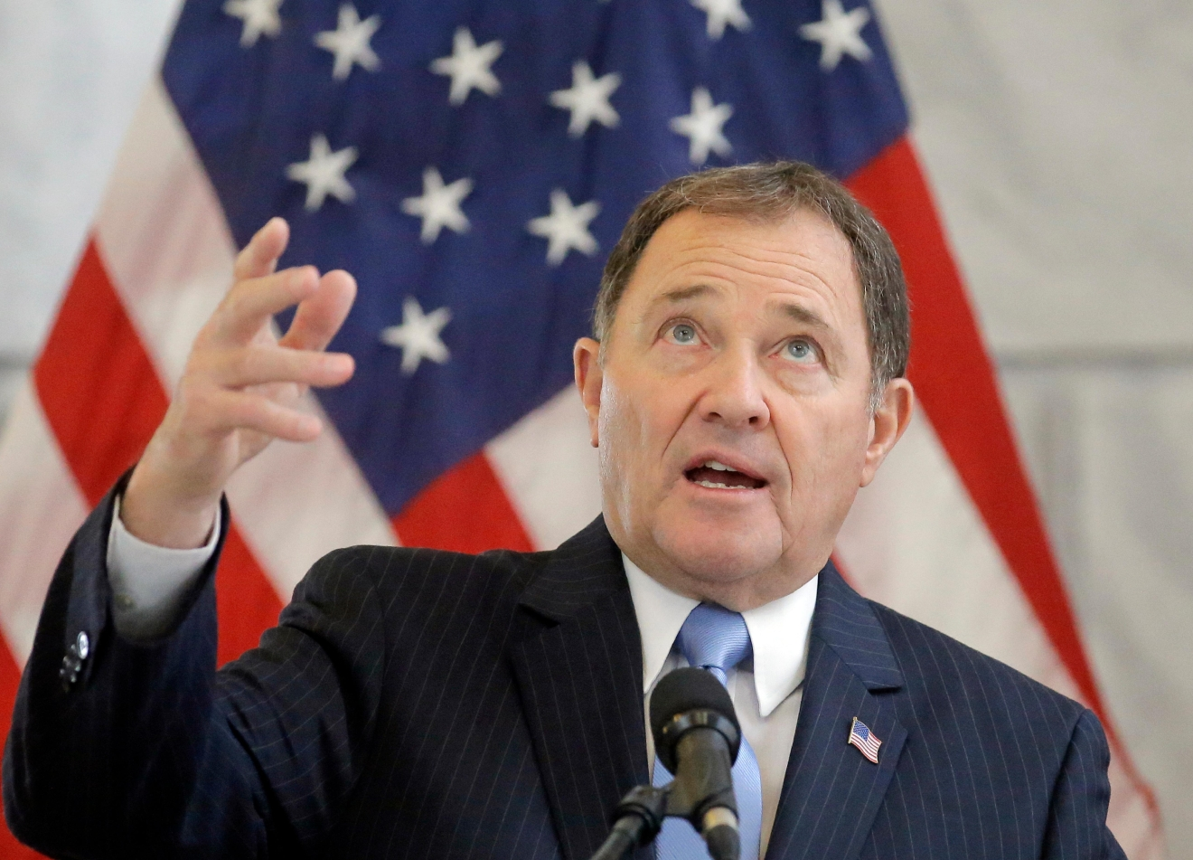 Governor Gary Herbert (R-Utah) ranks ninth among the most popular U.S. governors, according to a Morning Consult Poll (File photo: AP)