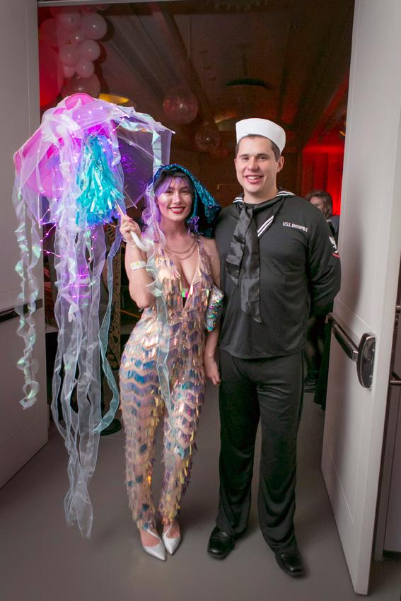 Sarah Wygle and Justin Wilson at the Creatures of the Night Halloween Party held at the 21C Hotel (10.27.18) / Image: Mike Bresnen Photography // Published: 10.31.18